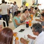 Dia 17/05: após a Lectio Divina, com Frei Rogério, foi comemorado o almoço de Páscoa dos Meces.