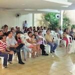 """Dia 19/05: aconteceu o 5º Pós-Encontro do ECC, com tema """"Maria, exemplo de amor de mãe"""", com Irmão Thiago da Comunidade Filhos de Sant'Ana."""