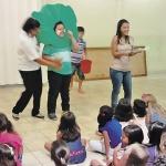 Dia 03/05: agentes do PMI encenaram para as crianças, que aprenderam a Palavra de forma lúdica.