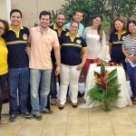 Dia 12/05: o Ministério da Palavra rescitou o Terco em Honra a Nossa Senhora, no Salão Paroquial da igreja de Neópolis.